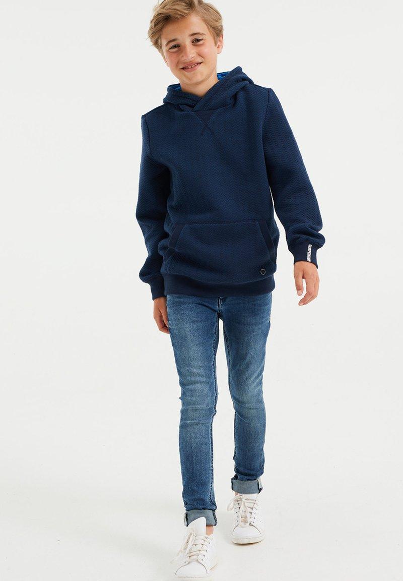 WE Fashion - MET STRUCTUUR - Jumper - blue