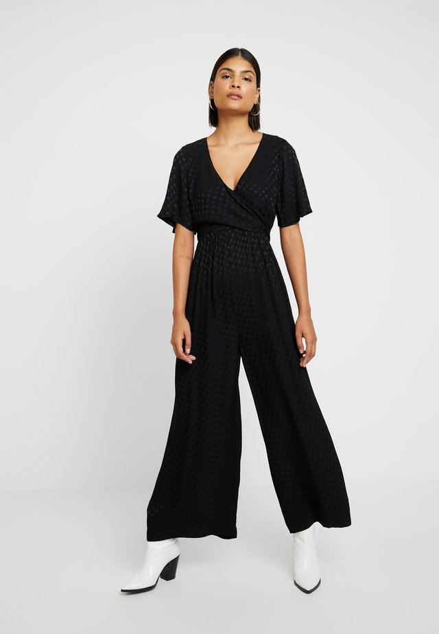 WRAP IN DOT - Tuta jumpsuit - true black
