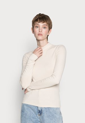 ELLE HIGH NECK - Long sleeved top - tapiocca