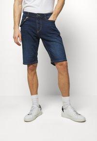TOM TAILOR - Denim shorts - dark stone wash denim - 0