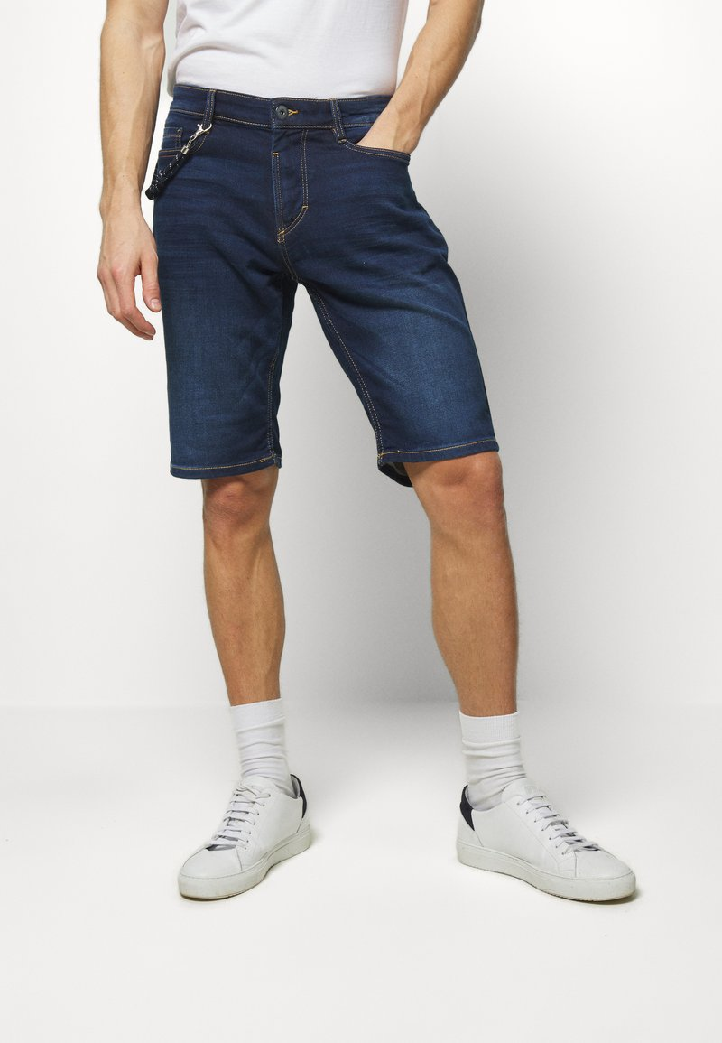 TOM TAILOR - Denim shorts - dark stone wash denim
