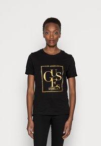 Guess - SIMONNE  - T-shirt z nadrukiem - jet black - 0