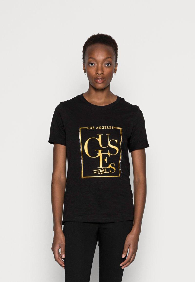 Guess - SIMONNE  - T-shirt z nadrukiem - jet black