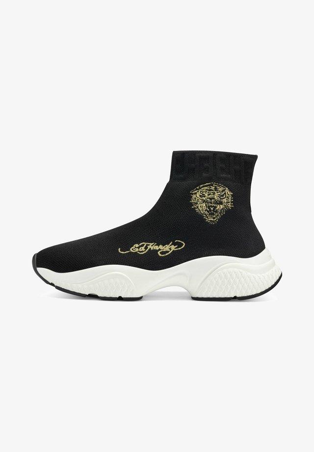 SOCKED - Sneakers hoog - black