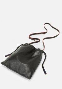 Marni - MUSEO SOFT DRAWSTRING - Across body bag - black/navy blue - 3