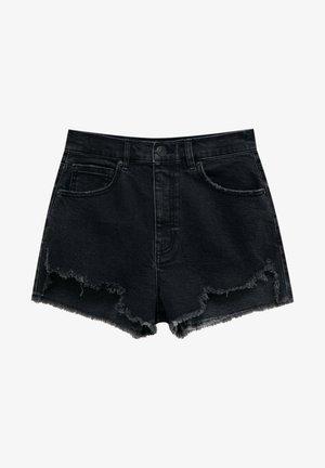Džínové kraťasy - mottled black