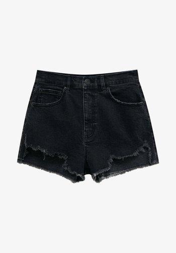 Szorty jeansowe - mottled black