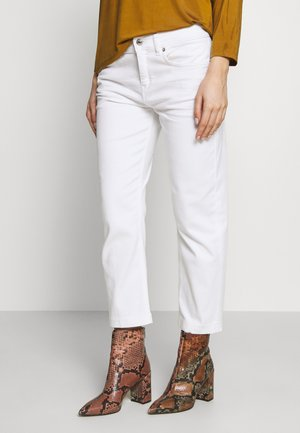 PASS - Straight leg jeans - white denim