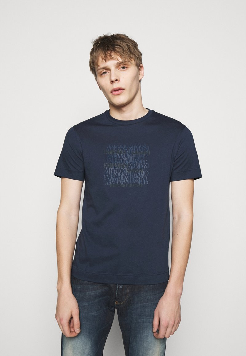 Emporio Armani - T-shirt imprimé - dark blue