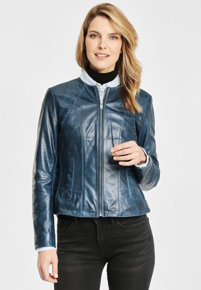 DEERCRAFT SOLEJ LPL - Leather jacket - light navy
