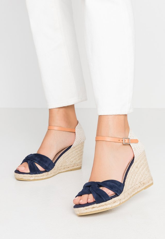 SIENA - High heeled sandals - marino