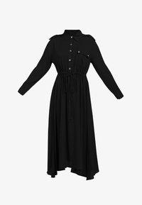 DreiMaster - DREIMASTER MIDI-KLEID - Shirt dress - schwarz - 4