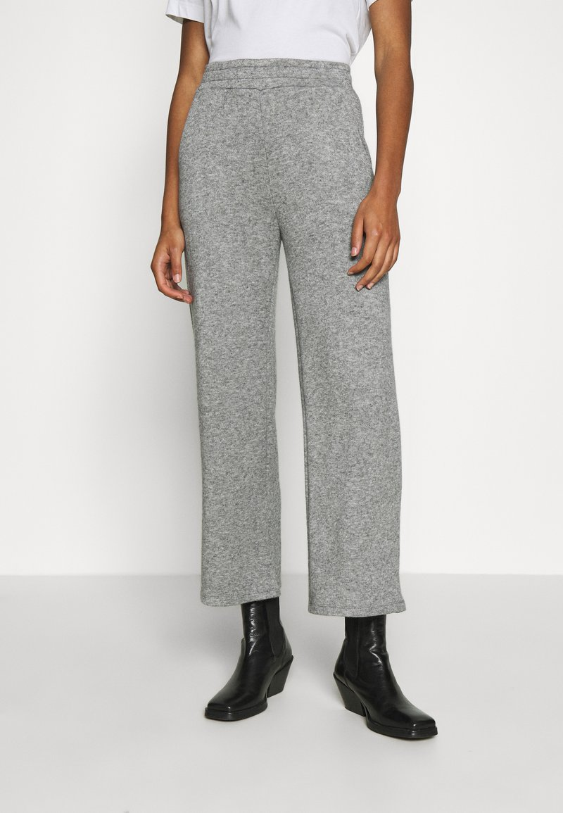 Zign - LOUNGE STRAIGHT PANT  - Bukser - mottled grey
