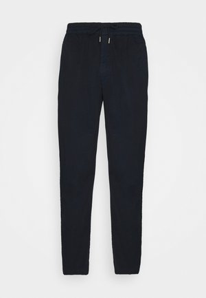 DRAWCORD TROUSERS - Stoffhose - deep navy