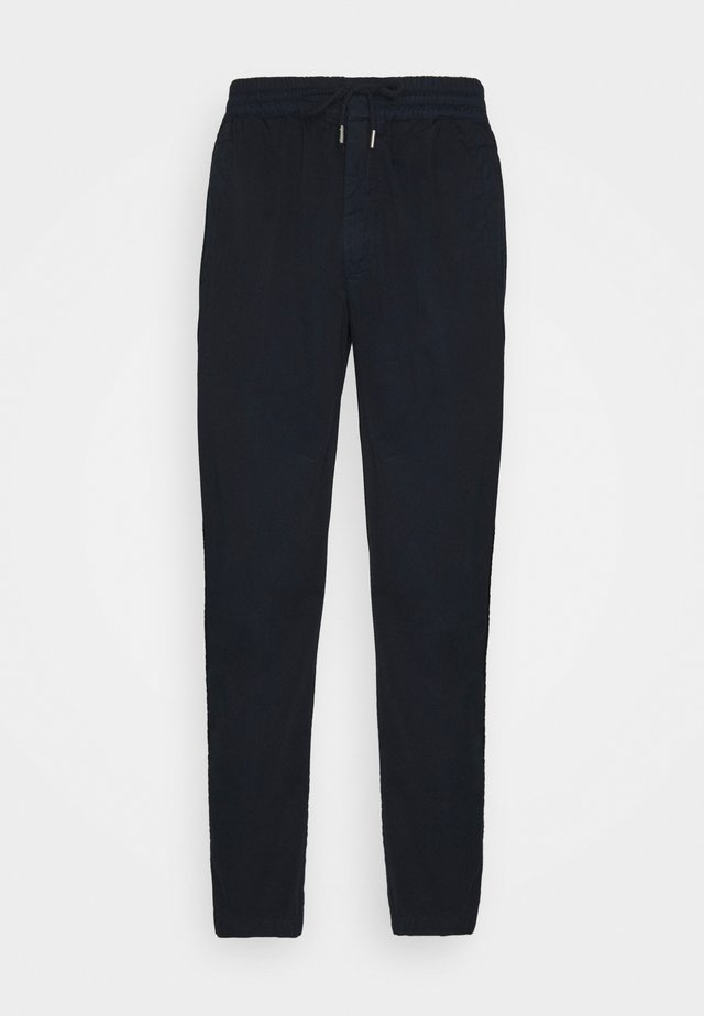 DRAWCORD TROUSERS - Kangashousut - deep navy