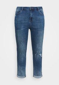 FERN SLIM BOYFRIEND REGULAR LENGTH - Slim fit jeans - dark stonewash