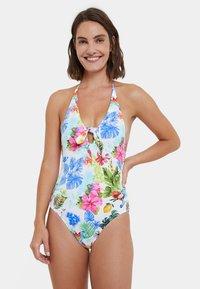 Desigual - HONOLULU - Swimsuit - white - 0