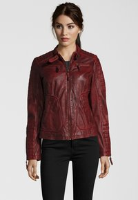 7eleven - Leather jacket - red - 0