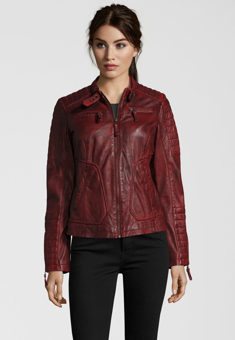 7eleven - Leather jacket - red