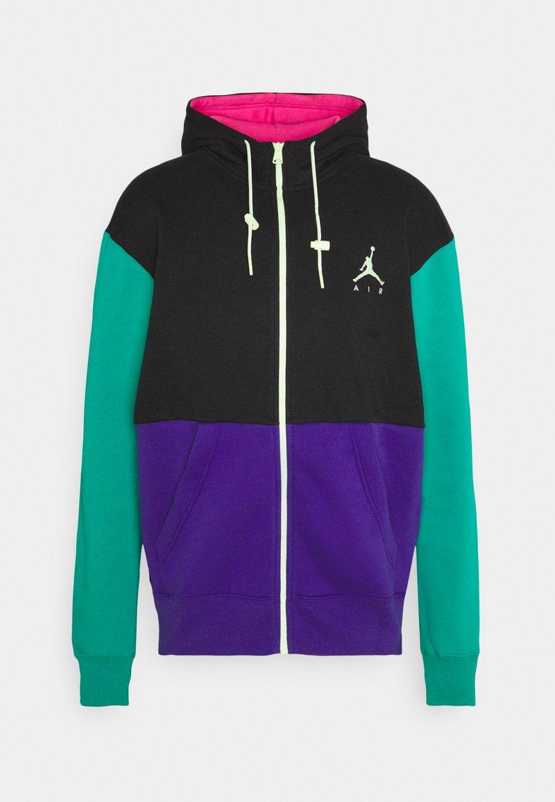 Jordan - JUMPMAN AIR - Zip-up hoodie - black/court purple/neptune green/barely volt