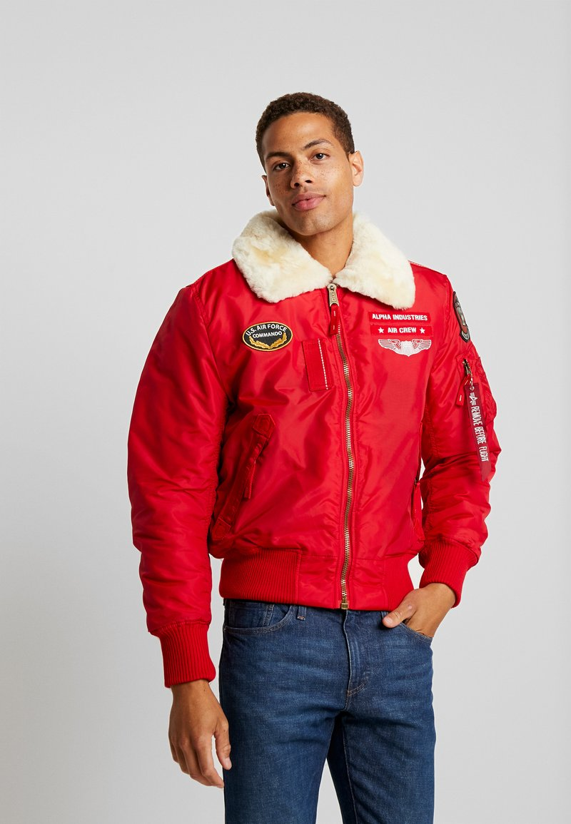 Alpha Industries - INJECTOR  AIR FORCE - Kurtka Bomber - speed red