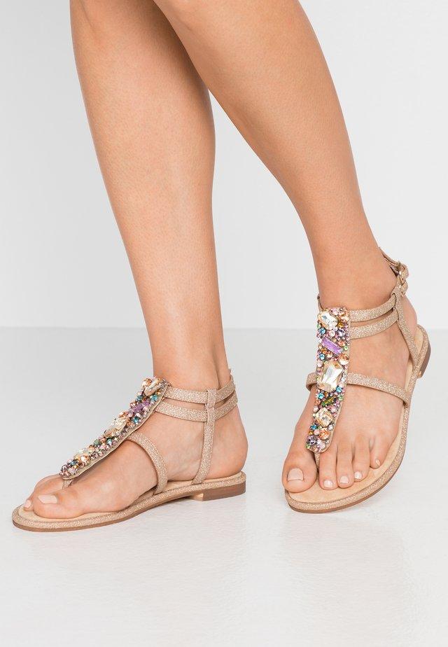 T-bar sandals - sand