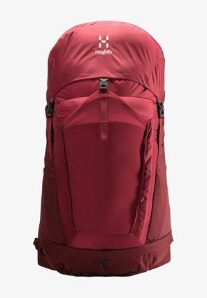 STRÖVA 55 - Hiking rucksack - brick red/light maroon red