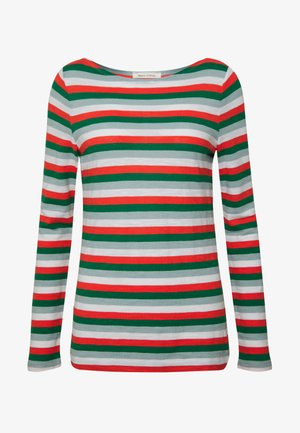 LONG SLEEVE BOAT NECK STRIPED - T-shirt à manches longues - multi/spring forest
