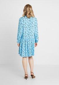Moss Copenhagen - FRYD TURID DRESS - Shirt dress - blue/black - 2