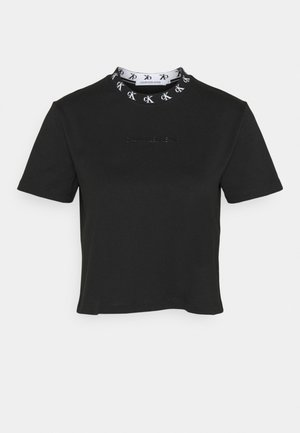 LOGO TRIM TEE - Print T-shirt - ck black