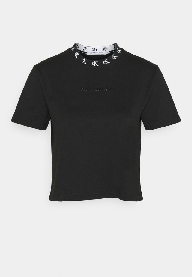 LOGO TRIM TEE - Camiseta estampada - ck black