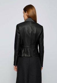 BOSS - SANOA - Leather jacket - black - 2