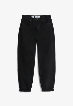 MIT UMSCHLAG  - Relaxed fit jeans - black