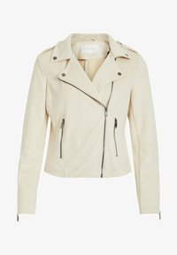 Vila - Faux leather jacket - birch - 5