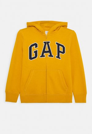 BOYS LOGO - Zip-up hoodie - rugby gold