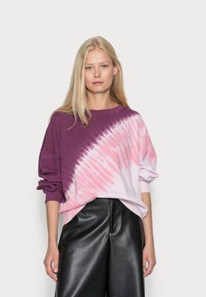 CREW  - Felpa - burgundy tie dye