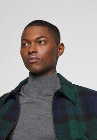 J.CREW - ZIP FRONT BLACKWATCH - Summer jacket - green black - 3