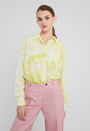 CASPER CAMICIA TIE DYE - Button-down blouse - giallo