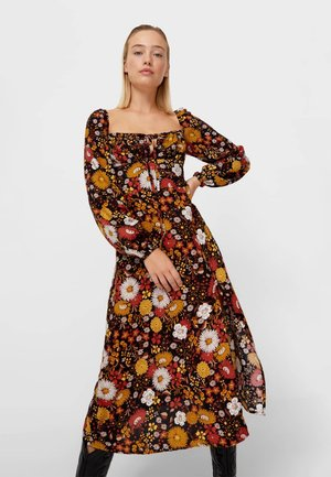 MIT BLUMENPRINT - Sukienka letnia - brown