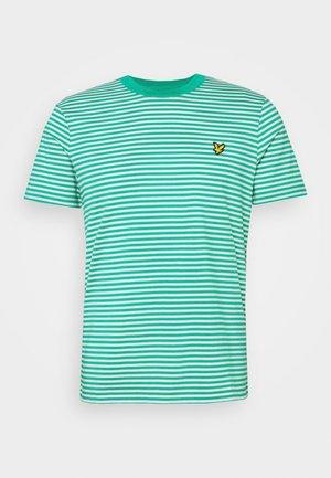 2 COLOUR STRIPE - T-shirts print - green/white