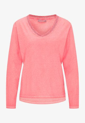 Long sleeved top - red coral