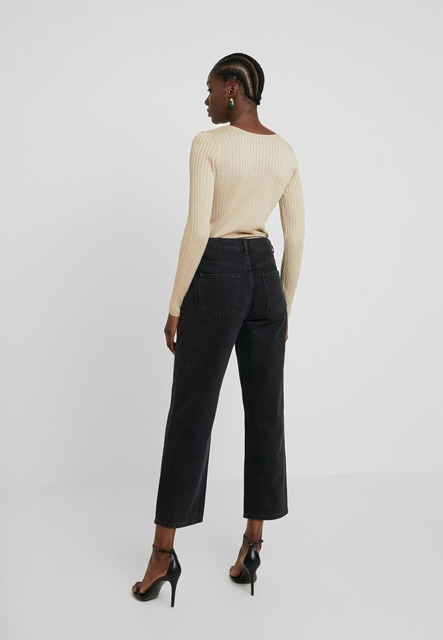CRYSTAL - Straight leg jeans - black washed