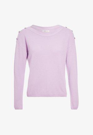 MIT KNÖPFEN AN DEN SCHULTERN - Pullover - violet clair