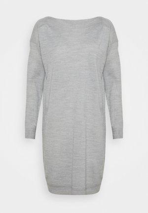ONLAMALIA DRESS - Sukienka dzianinowa - light grey melange