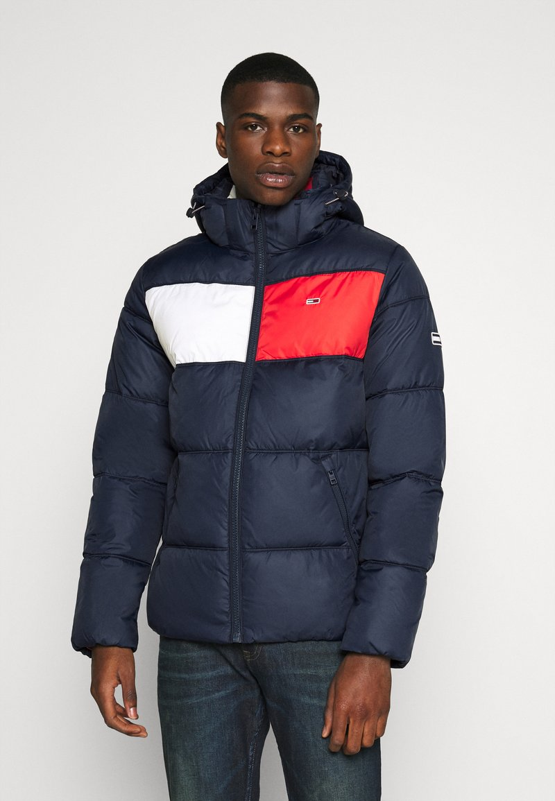 Tommy Jeans - COLORBLOCK PADDED JACKET - Winter jacket - twilight navy