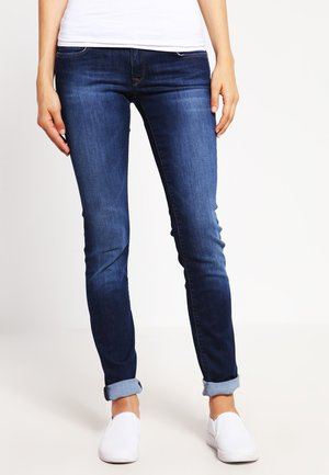 LINDY - Slim fit jeans - dark indigo stretch