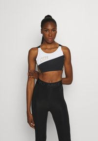 Nike Performance - LOGO BRA PAD - Sport BH - white/black/metallic gold - 0