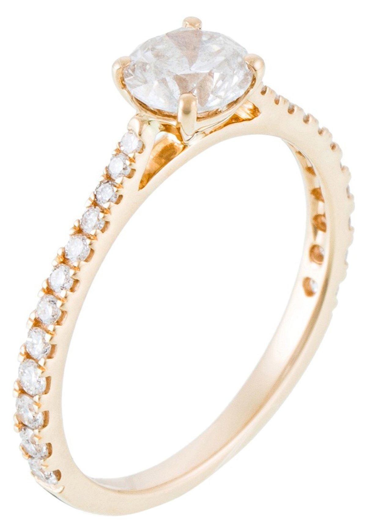 Mujer 18K YELLOW GOLD RING  CERTIFIED 25 DIAMONDS HSI AND 24 DIAMONDS 0.30 CT - Anillo