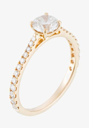 18K YELLOW GOLD RING  CERTIFIED 25 DIAMONDS HSI AND 24 DIAMONDS 0.30 CT - Ring - yellow