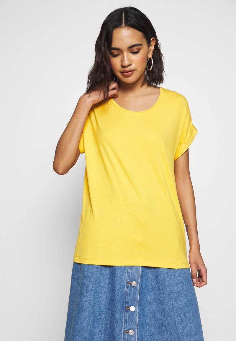ONLY - ONLMOSTER ONECK - T-shirt basic - yolk yellow